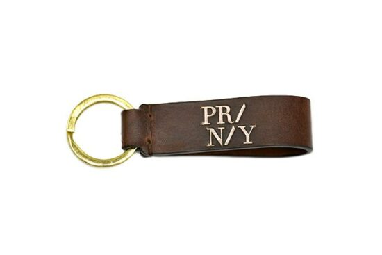 Brown leather key ring / porte clés cuir marron